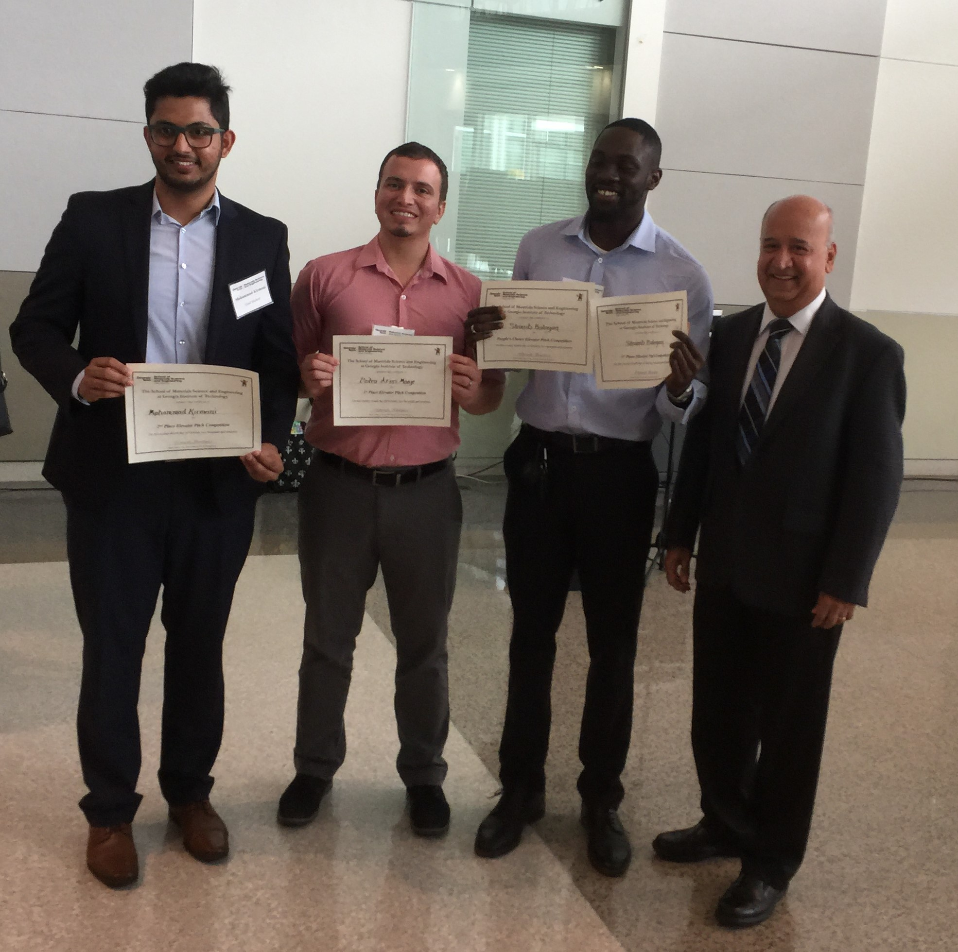 2019 Elevator Pitch Competition Winners