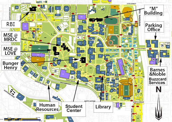 Georgia Tech Map Contacts & Directions | Materials Science and Engineering Georgia Tech Map